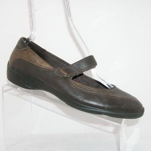 ECCO 'Cloud' brown leather mary jane wedge 10